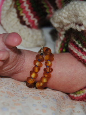 Child RAW Amber Anklets