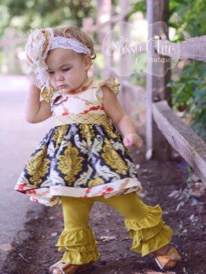Child Raw Round FLOWER Necklaces